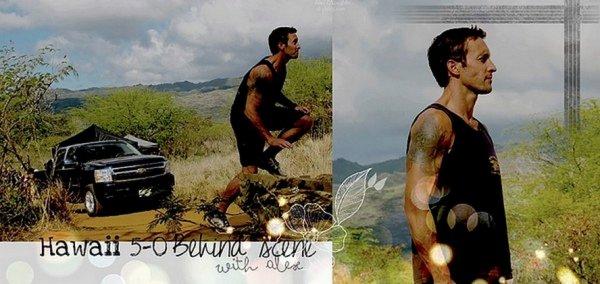 CBS a révélé 2 photos sur le tournage d'Hawaii 5-0 où on peut voir Alex.