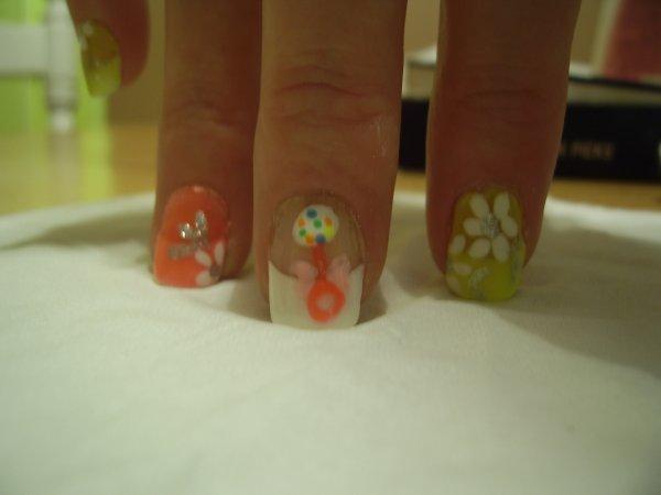 Voici quelques nail art pour un shower bébé
