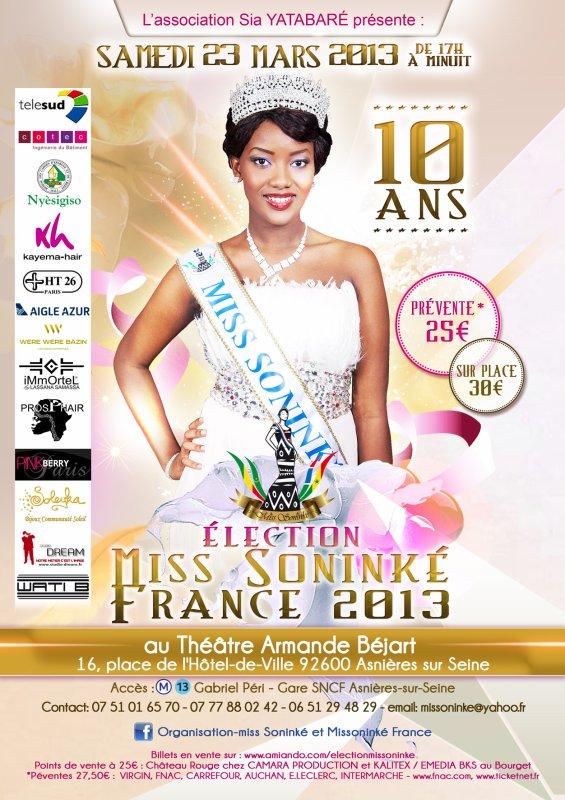 samedi 23 mars, élection miss soninké france 2013