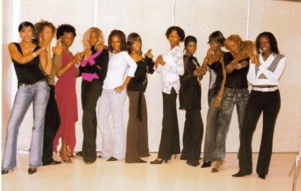 Les candidates de miss soninké france 2004