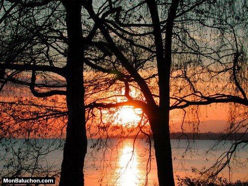 coucher de soleil en automne !