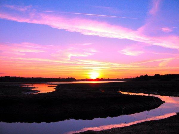 magnifique coucher de soleil bisous !