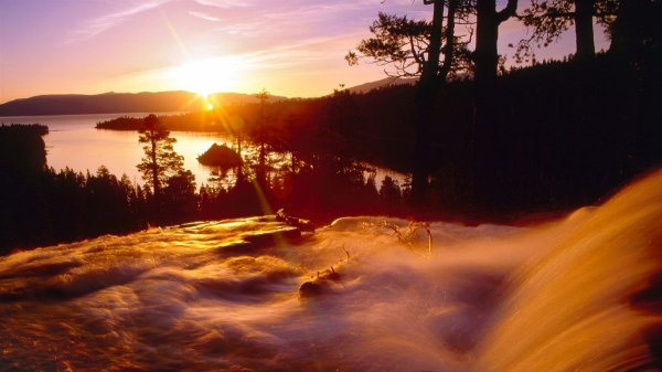 joli coucher de soleil !