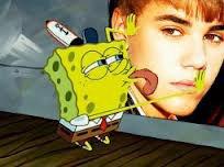 Bob l'éponge et Justin Bieber!!!!