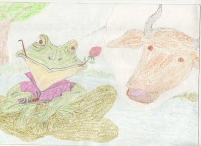 La grenouille et le boeuf fable de Jean de La Fontaine revisité par moi !!
