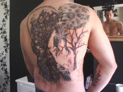 Mon 5e tatoo du dos la faucheuse blog de matth62tatoo - Tatouage la faucheuse ...