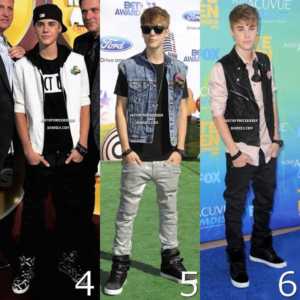 Les plus belles tenues de Justin en 2011- Votez pour votre préférée  ;)