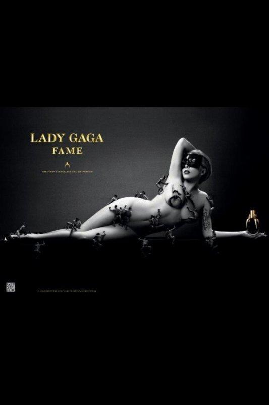 Lady Gaga a l'affiche de son parfum Fame