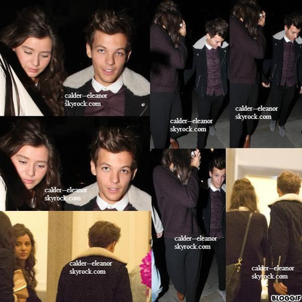 le 7 octobre 2012 - Eleanor et Louis repéré dans le centre de Londres