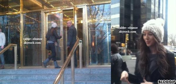 le 4 decembre 2012 - notre belle eleanor a était veut devant son hotel a new york