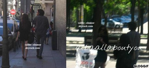 le 25 mai 2013 - eleanor et max dans la rue a madrid