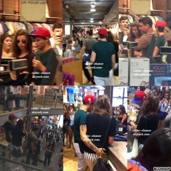 le 3 juillet 2013 - Eleanor et louis ont était veut faire du shopping à Montréal