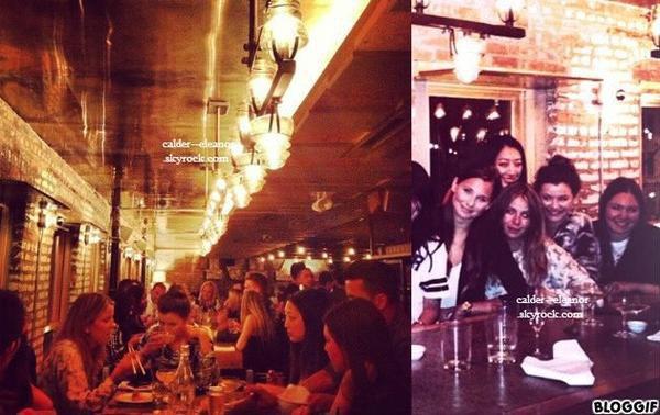 le 24 juillet 2013 - eleanor et ses amis dans un bar a new york