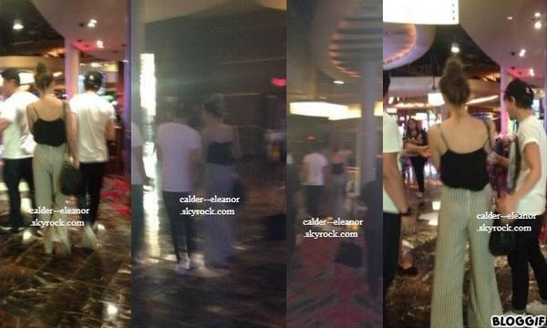 le 1 aout 2013 - Eleanor et louis a leur hotel a  Las Vegas,