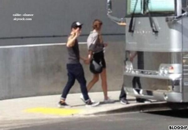 le 3 aout 2013 - Eleanor et Louis ont était veut quitter l'hôtel à Las Vegas, Nevada