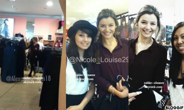 le 28 septembre 2013 - la miss eleanor a était veut fait du shopping et posant avec des fan a londres