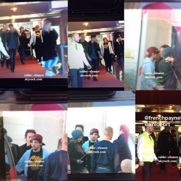 le 14 decembre 2013 - eleanor louis et le reste du groupe sont arrivant à Cannes
