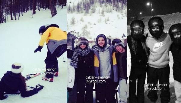 le 24 au 25 janvier 2014 -Eleanor  et Louis étaient partis avec des amis pour un weekend à Val d'Isère, Fr.