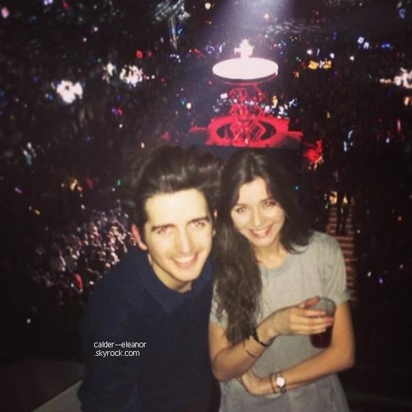 le 11 février 2014 - Eleanor et quelques amis étaient présent au concert donné par Taylor Swift, à Londres