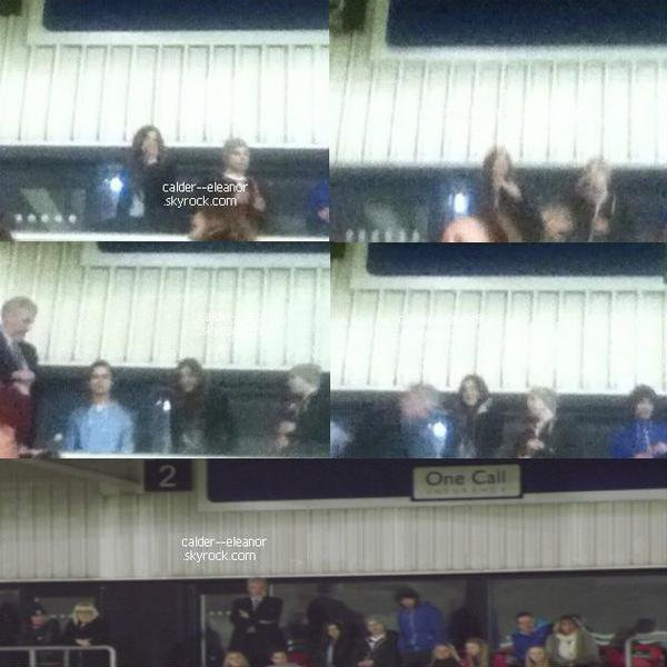 le 26 février 2014 - Eleanor et la famille de Louis, étaient présent au match de football de Louis, Doncaster.