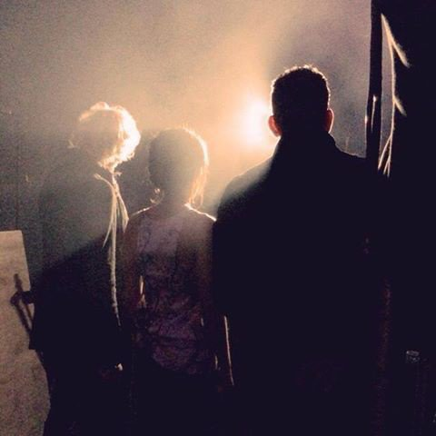 """Clap de fin des auditions à l'aveugle pour """"The Voice Kids"""" avec mes 2 compères :)"""