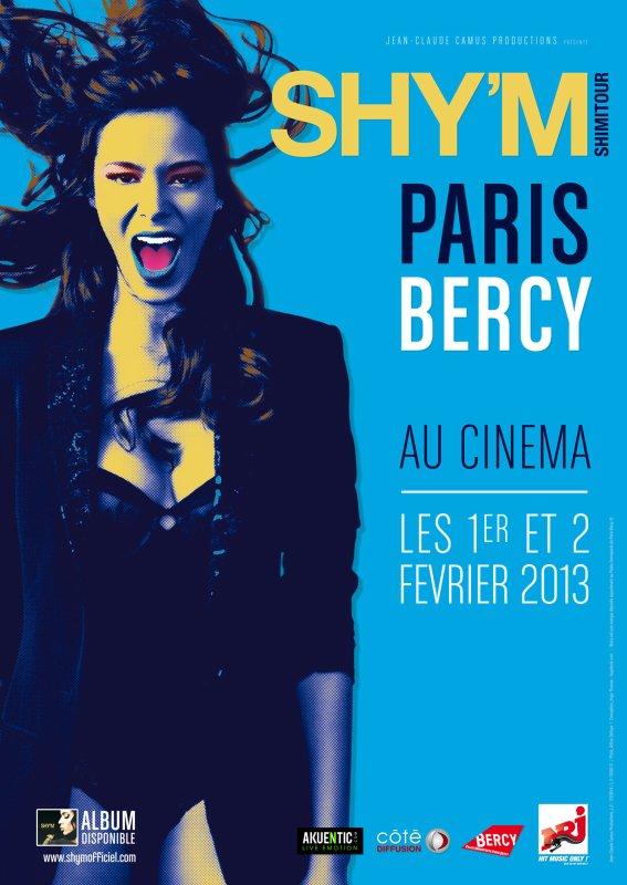 Le 1er et 2 Février retrouvez le live de Paris Bercy de Shy'm au cinéma près de chez vous [ça y est ça commence 1 article par jours]