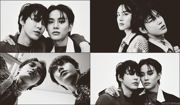 """.20/02/21. Doyoung et Jungwoo seront en couverture du """"Cosmopolitan Korea"""" en mars 2021 Pour l'occasion ils ont réalisé un photoshooting, une story Instagram et une interview"""