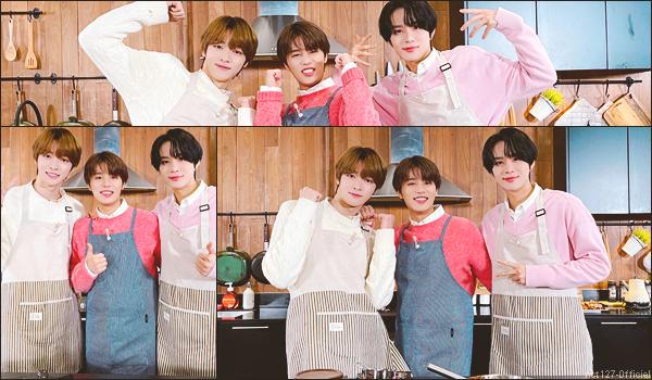 """.11/02/21. La chaîne YouTube """"채널 NCT Daily"""" a postée de nouvelles vidéos Sungchan (nouveau membre de NCT), Jungwoo, Johnny et Doyoung se sont perfectionnés en cuisiné grâce au """"Master MOON Chef"""""""