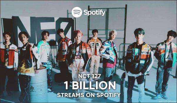 ".16/03/21. NCT 127 a franchi la barre du milliard de streams sur la plateforme ""Spotify"""