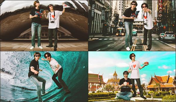 """.01/04/21. La chaîne YouTube """"NCT"""" a postée une nouvelle vidéo Johnny et Ten (WayV) ont réalisé un Vlog de leur (faux) voyage à Chicago, lors d'un épisode de Johnny's Communication Center"""