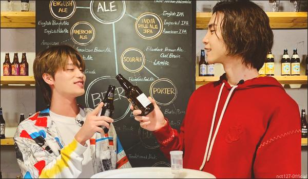 """.19/05/21. La chaîne YouTube """"NCT"""" a postée une nouvelle vidéo Nouvel épisode de Johnny's Communication Center, Taeil et Johnny montre comment sont fabriquées les bières"""