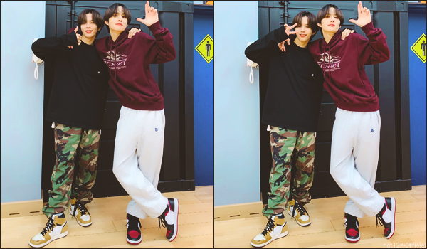 """.08/06/21. La chaîne YouTube """"NCT"""" a postée une nouvelle vidéo Jungwoo a rencontré Shotaro (nouveau membre de NCT), pour un entraînement de danse"""