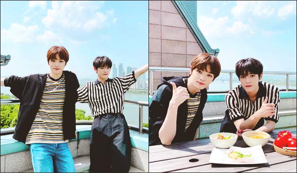 """.18/06/21. La chaîne YouTube """"NCT"""" a postée une nouvelle vidéo Taeyong et Sungchan (nouveau membre de NCT) ont cuisiné"""