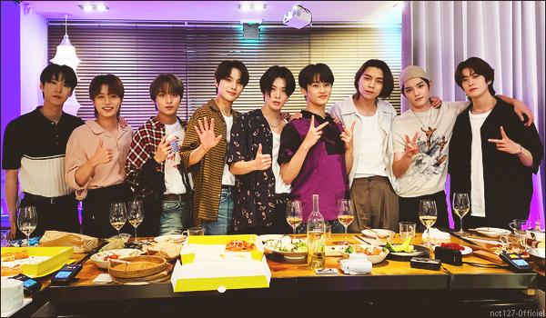 """.30/06/21. La chaîne YouTube """"NCT 127"""" a postée une nouvelle vidéo Les membres ont fêté les 5 ans du groupe et l'anniversaire de Taeil"""