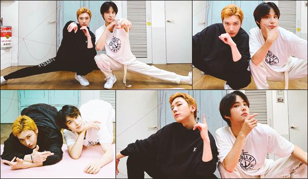 """.24/07/21. La chaîne YouTube """"NCT"""" a postée une nouvelle vidéo Jungwoo a pris un cours de méditation avec Ten (WayV)"""