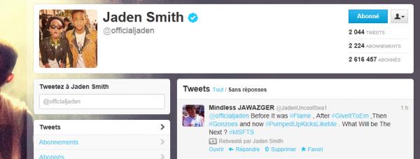 Jaden Retweeted Me ...