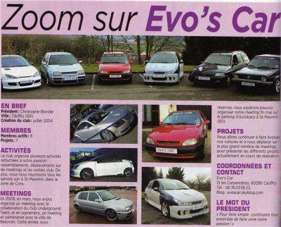 ZOOM sur Evos'car paru sur GTI MAG n°118 !!!!!!!!!!!!