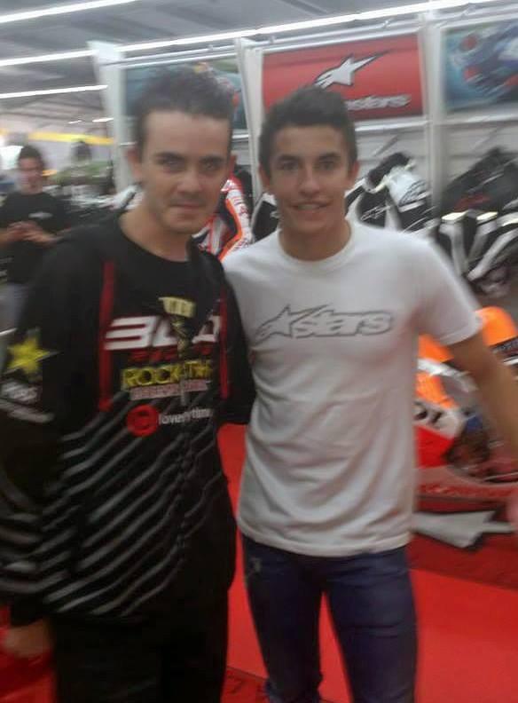 Moi avec Marc Marquez à Maxxess de Bordeaux !!!