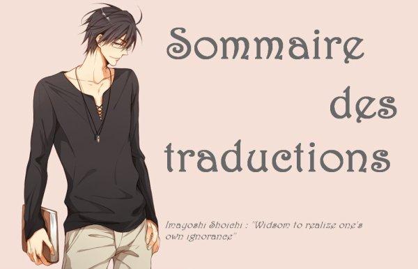 SOMMAIRE DES TRADUCTIONS