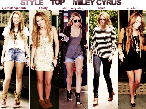 MILEY ; ZOOM SUR SON STYLE , plus que surprenant !