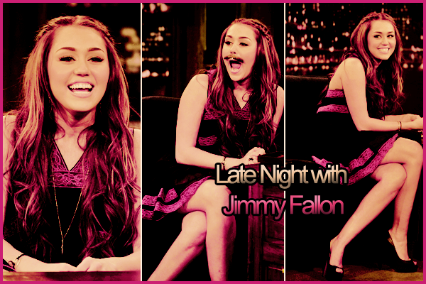 Late Night With Jimmy Fallon - Miley Cyrus !