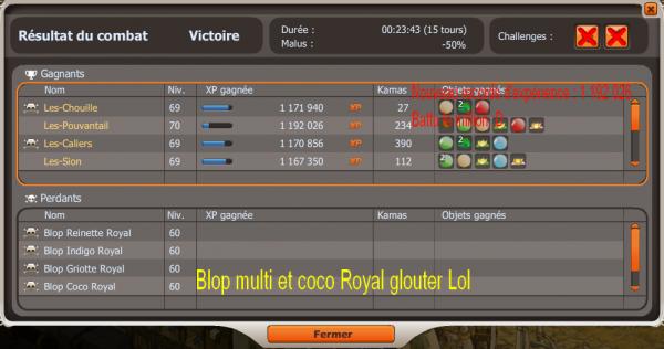 Up 70 ! / Blop Multicolore Royal