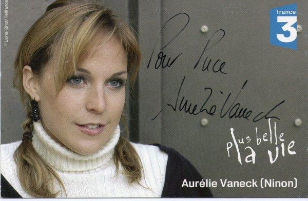 Dédicase d'Aurélie Vaneck
