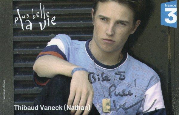 Dédicase de Thibaud Vaneck