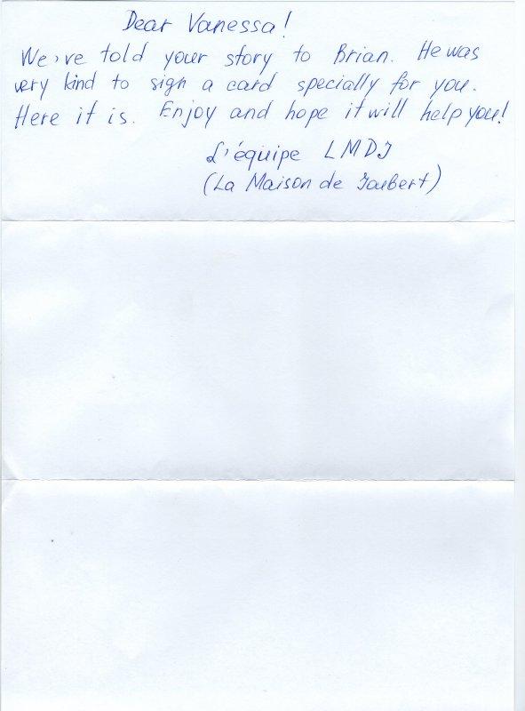 Lettre de Brian Joubert