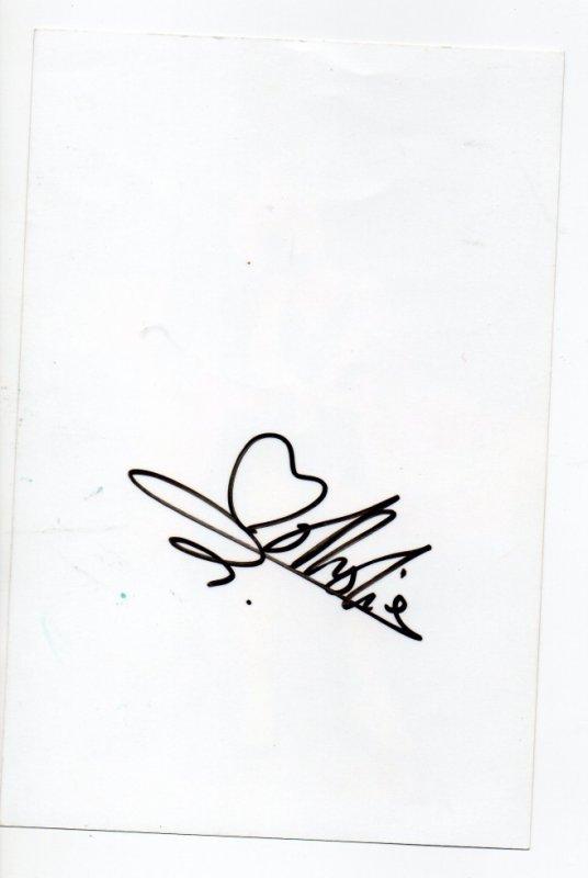 Autographe de Nathalie Péchalat