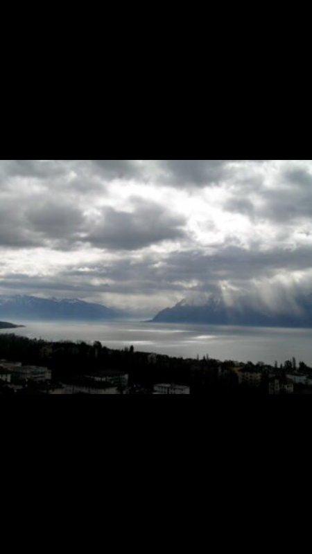 Vue sur le lac Léman