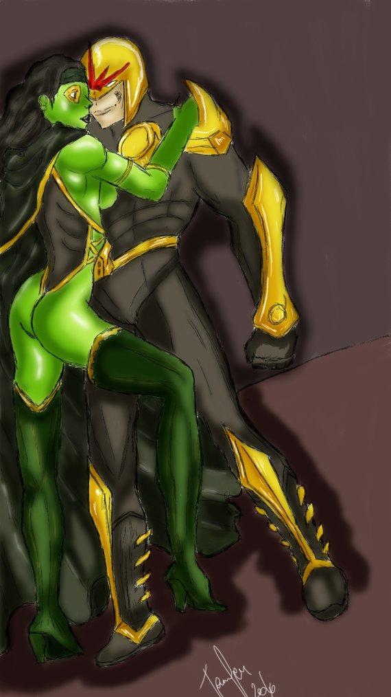 Gamora et Nova
