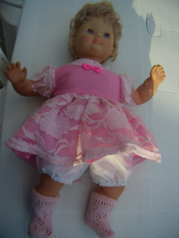 Clodrey en robe rose