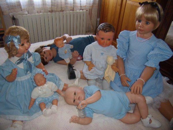 Famille en bleu